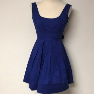 Royal Blue Rockabilly Inspired Dress